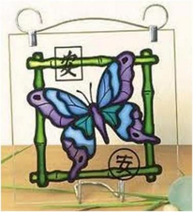 Художественный витраж бабочка
