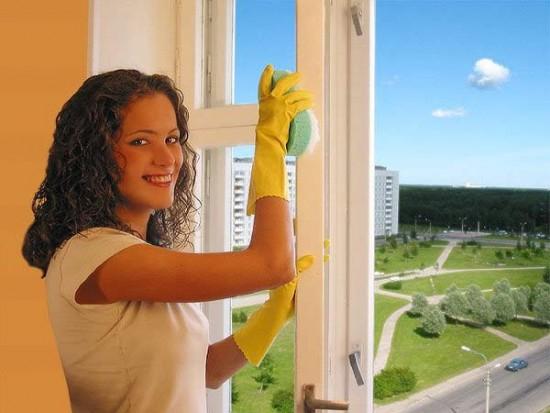 мытье окна