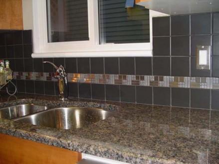 Темная плитка на кухню