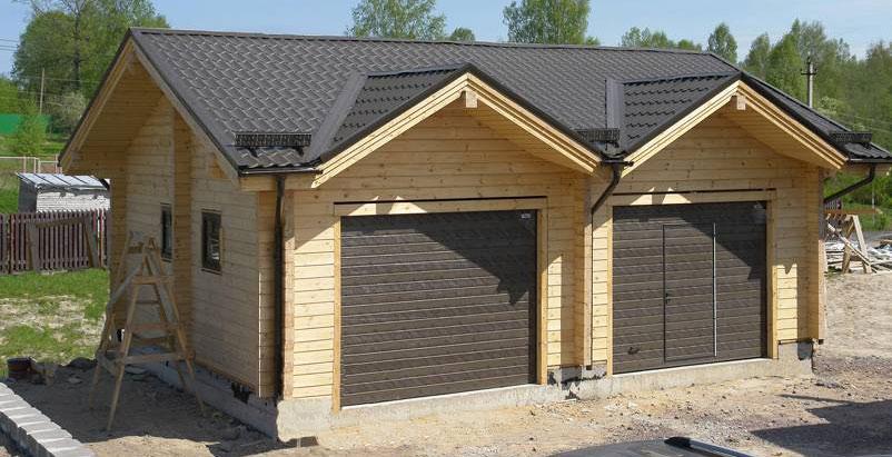 Деревянный дом с гаражом своими руками 558