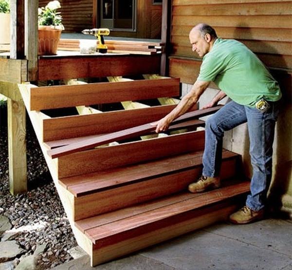 Сделать деревянную лестницу в дом своими руками