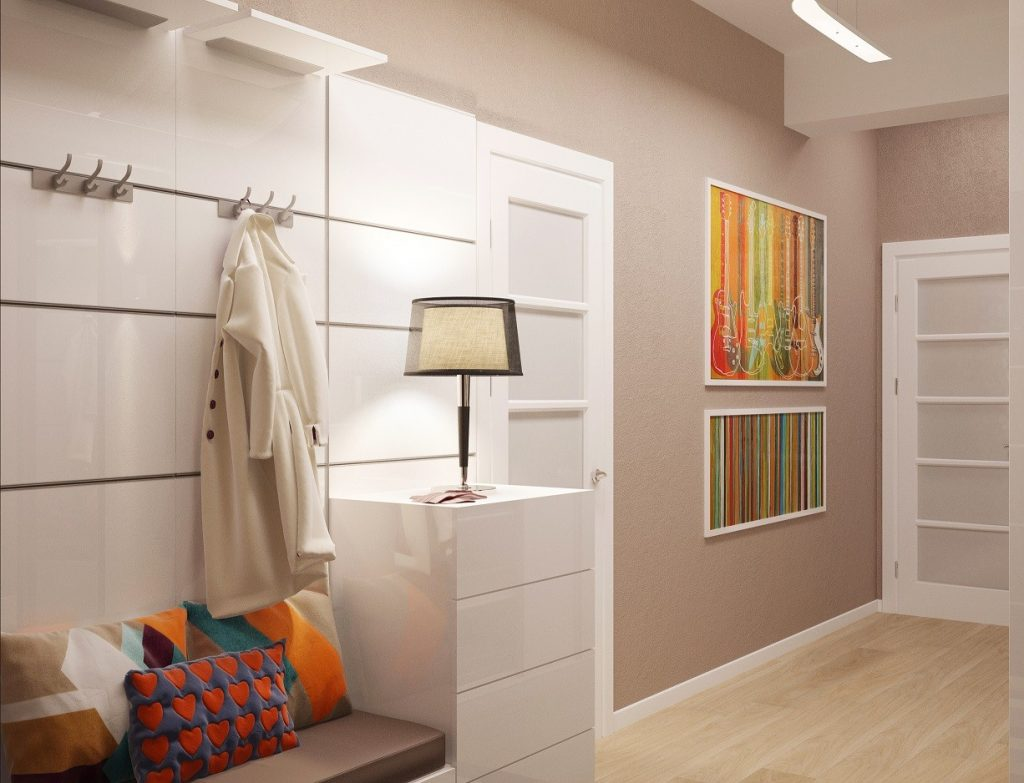 Шкаф узкий в коридоре дизайн