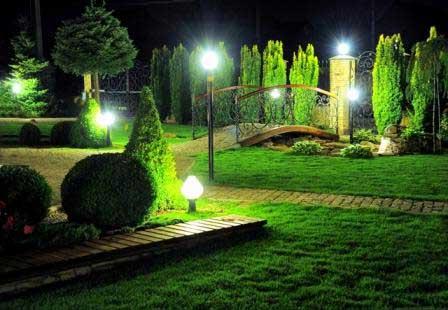Правильное освещение в саду
