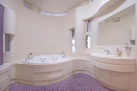 Акриловый камень в ванной