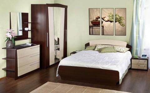 бежевый цвет спальни