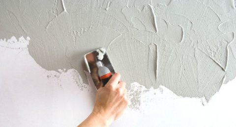 Подготовка стен под фактурную штукатурку